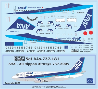 1:144 All Nippon Airways Boeing 737-500 'Super Dolphin'