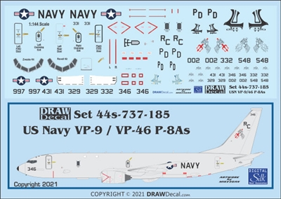 1:144 US Navy Boeing P-8A Poseidon VP-9 Golden Eagles, VP-46 Grey Knights