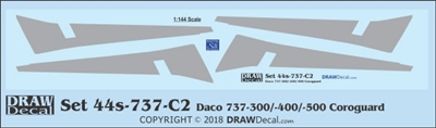 1:144 Boeing 737-300, -400, -500 Corogard (Daco kits, Top surfaces only, without wing escape markings) (Two Sets)