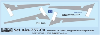 1:144 Boeing 737-300 Corogard (Minicraft kit, Top surfaces only, with wing escape markings) (Two Sets)