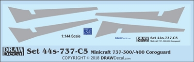 1:144 Boeing 737-300 / -400 Corogard (Minicraft kits, Top surfaces only, without wing escape markings) (Two Sets)