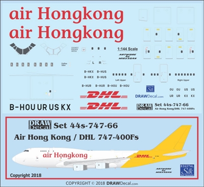 1:144 Air Hong Kong / DHL Boeing 747-400F
