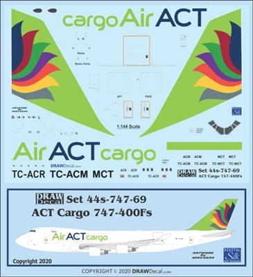 1:144 ACT Air Cargo Boeing 747-400F