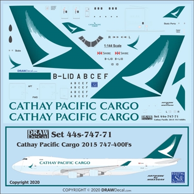 1:144 Cathay Pacific Cargo (2015 cs) Boeing 747-400F
