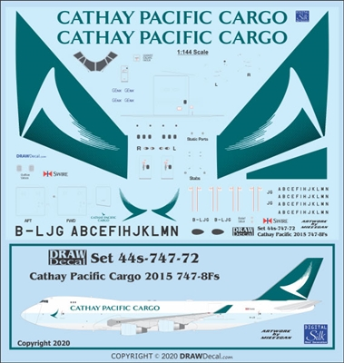 1:144 Cathay Pacific Cargo (2015 cs) Boeing 747-8F