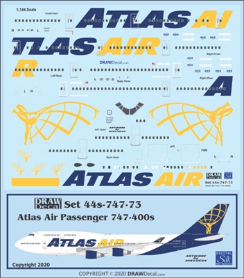 1:144 Atlas Air Boeing 747-400 (passenger fleet)
