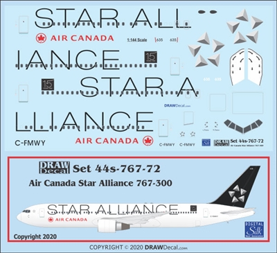 1:144 Air Canada 'Star Alliance' Boeing 767-300ER