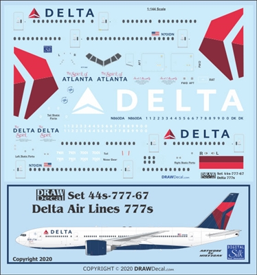 1:144 Delta Airlines (2007 cs) Boeing 777-200