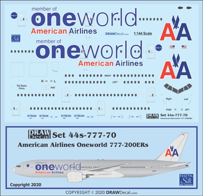 1:144 American Airlines 'OneWorld' Boeing 777-200