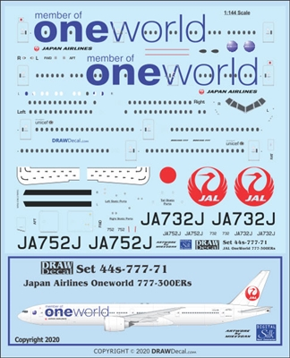 1:144 Japan Airlines 'OneWorld' Boeing 777-300ER