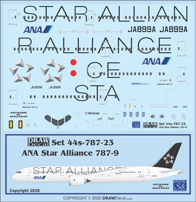 1:144 All Nippon 'Star Alliance' Boeing 787-9