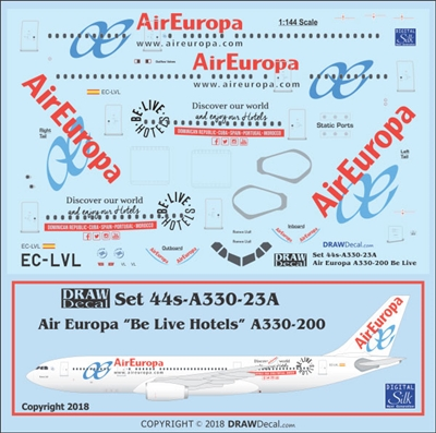 "1:144 Air Europa Airbus ""Be Live Hotels"" A.330-200"