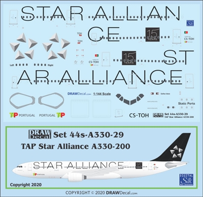 1:144 TAP Air Portugal 'Star Alliance' Airbus A.330-200