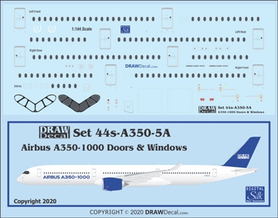 1:144 Airbus A350-1000 Doors and Windows