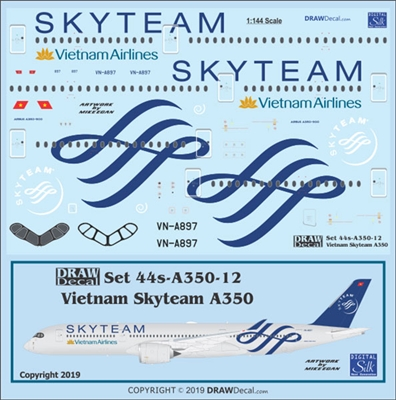1:144 Vietnam Airlines 'Skyteam' Airbus A.350-900