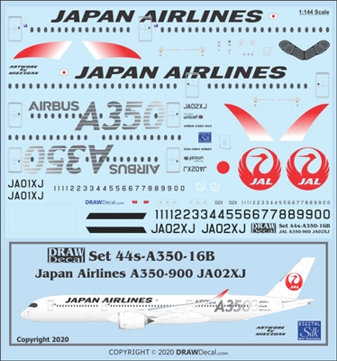 1:144 Japan Airlines Airbus A.350-900 (JA02XJ, silver details)