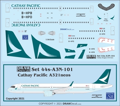 1:144 Cathay Pacific Airbus A.321NEO
