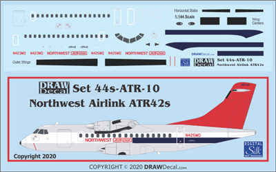 1:144 Northwest Airlink ATR42
