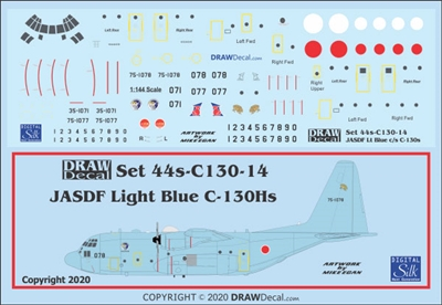 1:144 Japan Air Self Defence Force C-130H Hercules (blue cs)