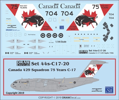1:144 Canadian Armed Forces '429 Sq Anniversary cs' CC-177 / McDD C.17A Globemaster III