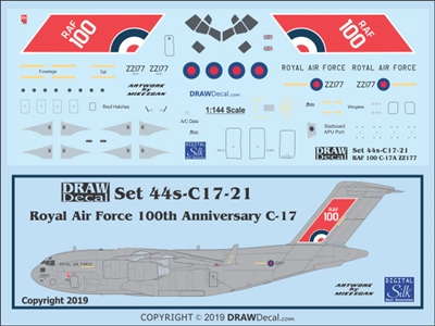 "1:144 Royal Air Force ""100th Anniversary"" McDD C-17A"
