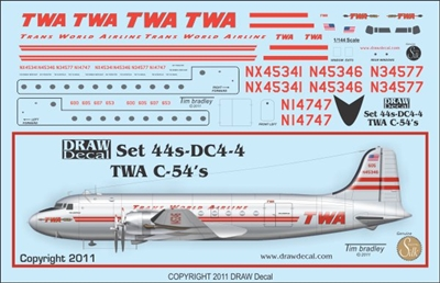 1:144 Trans World Airlines Douglas DC-4