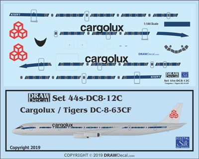 1:144 Cargolux (Flying Tiger Line cs)  Douglas DC-8-63CF