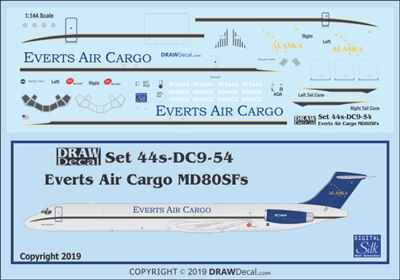 1:144 Everts Air Cargo McDD MD80SF