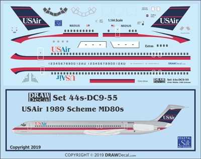 1:144 US Air McDD MD80