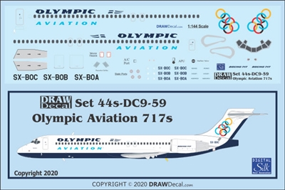 1:144 Olympic Aviation Boeing 717-200