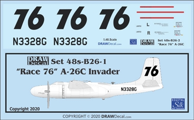 1:48 'Race 76' A-26C Invader