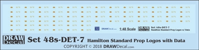 1:48 Hamilton Standard Prop Logos (64) with Data Blocks