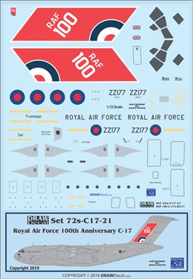 "1:72 Royal Air Force ""100th Anniversary"" McDD C-17A"