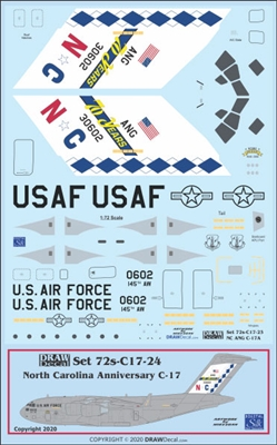 1:72 USAF North Carolina ANG  '70th Anniversary' McDD C17 Globemaster III