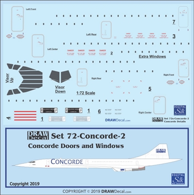 1:72 BAC Sud Concorde Doors, Windows and Details