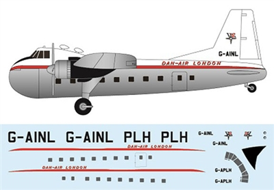 1:144 Bristol 170 Freighter Mk.21, Dan Air London