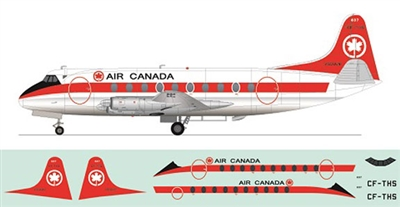 1:144 Vickers Viscount 700, Air Canada