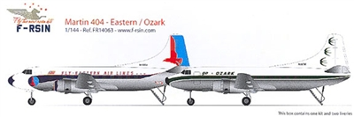 1:144 Martin 404, Eastern Airlines, Ozark Airlines
