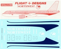 1:144 Northwest Airlines Airbus A.320