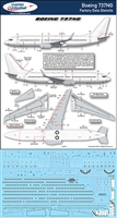 1:144 Boeing 737NG (-600 / -700 / -800 / -900) Factory Stencils