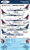 1:144 Delta Airlines & Delta Skyteam Boeing 737NG (-700 / -800 / -900)