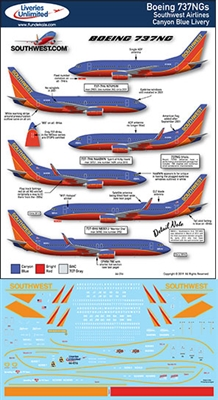 1:144 Southwest Airlines (Canyon Blue cs) Boeing 737NG (-700 / -800)