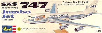 1:144 Boeing 747-100 Cutaway, SAS / British Airways