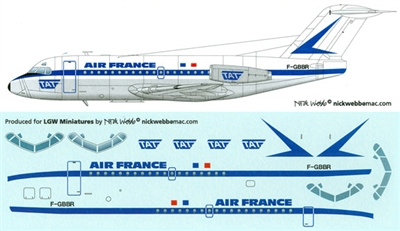 1:144 Air France (older cs) F.28-1000