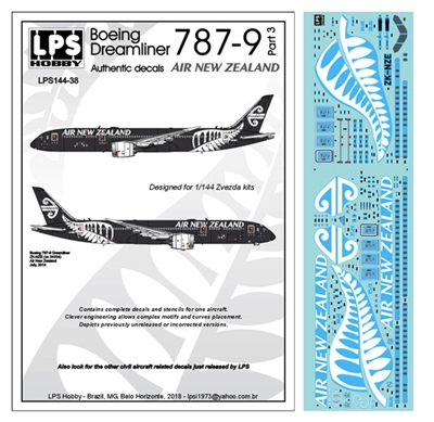 1:144 Air New Zealand Boeing 787-9