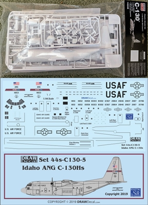 1:144 Minicraft Lockheed C.130A/E/H/J Hercules Kit + DRAW USAF Idaho ANG Decal