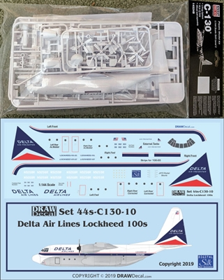 1:144 Minicraft Lockheed C.130A/E/H/J Hercules Kit + DRAW Delta L100 Decal