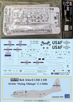 1:144 DRAW USAF 934th 'Flying Vikings' C130H Decal