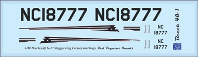1:48 Beechcraft G-17 Staggerwing Factory Markings