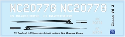 1:48 Beechcraft G-17 Staggerwing Antarctic Markings